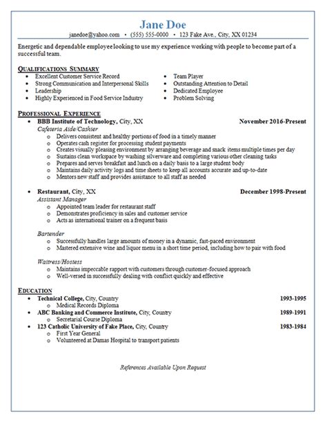 Restaurant Server Resume Template by Restaurant Server Management Restaurant Resume Server