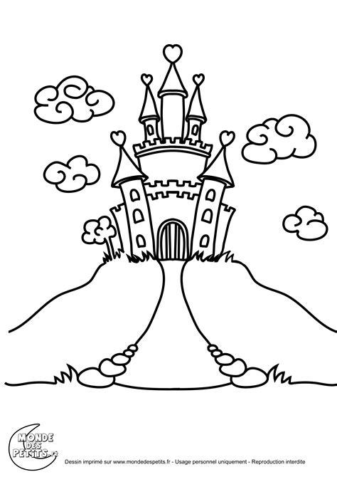 coloriage d un chateau de princesse