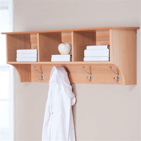 coat wall rack wall coat rack with shelf decofurnish