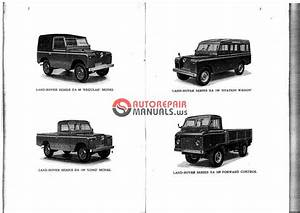 Land Rover Series Iia - Owner U2019s Manual