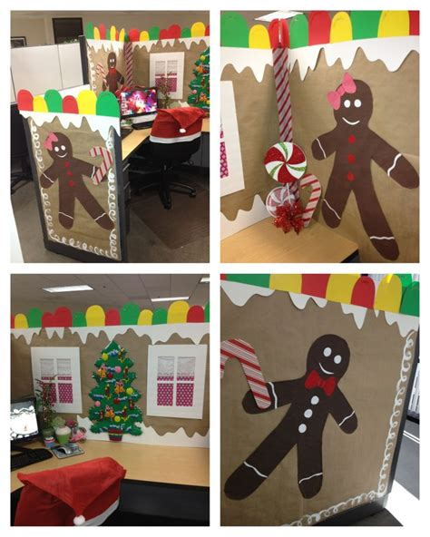 ideas  christmas cubicle decorations