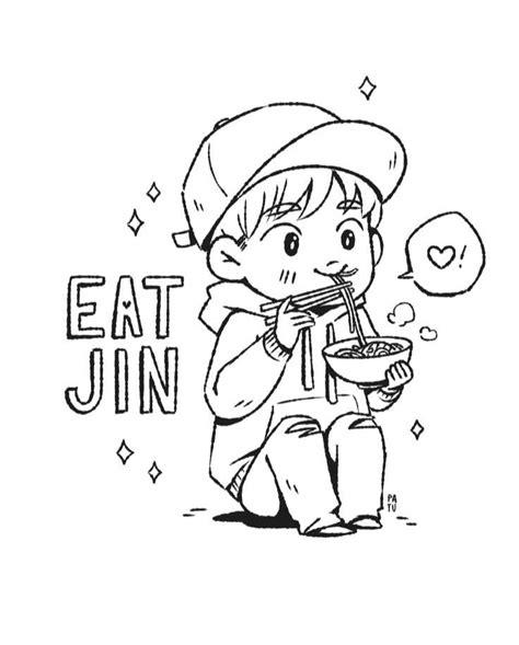 jin coloring page armys amino