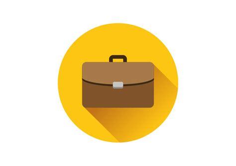 11967 briefcase icon flat briefcase flat vector icon superawesomevectors