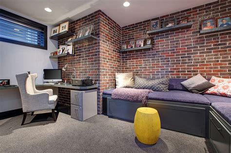 beautiful home designs interior trendy textural 25 home offices with brick walls