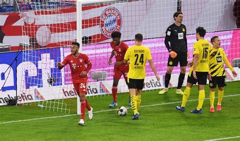 Der deutsche rekordmeister bezwang am mittwochabend in münchen den vizemeister borussia dortmund mit 3:2 (2:1). Bayern Munich vs Borussia Dortmund - DFL Supercup 2020 ...
