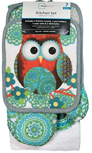 owl kitchen accessories mainstays 7 kitchen set owl import it all 1355