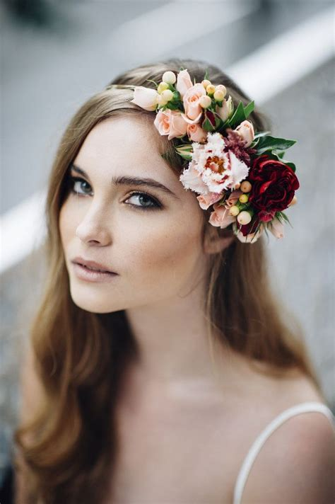 gorgeous floral crowns  fall weddings flower