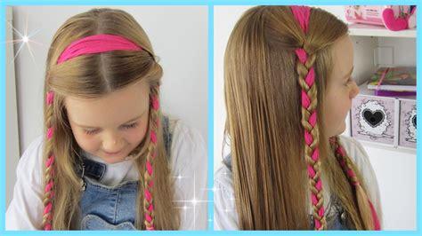 2 Zöpfe geflochten♡ mit HaarbandFlechtfrisur