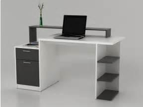 bureau blanc bureau zacharie 1 tiroir 1 porte blanc gris