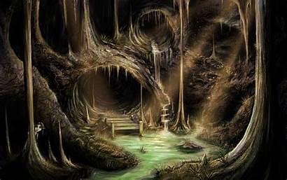 Cave Fantasy Anime Caves Deviantart Entrance Jerry8448