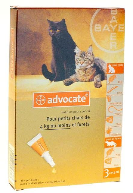 Tiques & Puces : Advocate Petit Chat de 4kg Spot on 3 Pipettes