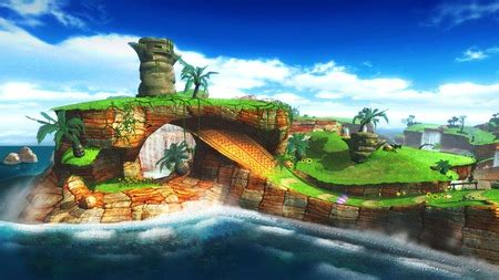 green hill zone sonic video games background