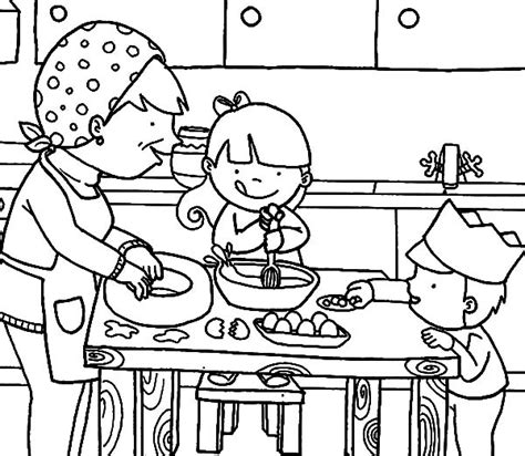 kitchen coloring page cooking drawing at getdrawings free for personal use 3384