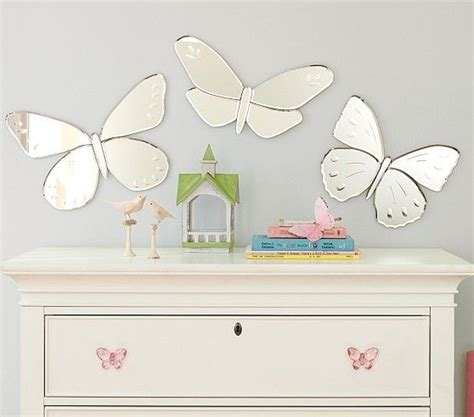 Pottery Barn Butterfly Wall Decor by Butterfly Mirrors Pottery Barn Kid S Room