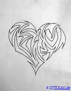 drawing a Tribal Heart, Step by Step, Tribal Art, Pop ...