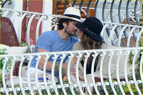 Ian Somerhalder Nikki Reed Share A Kiss In Italy