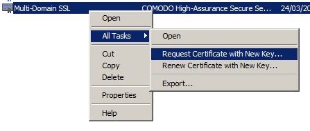 the request contains no certificate template information original machine not available to complete certificate request for multi domain ssl certificate