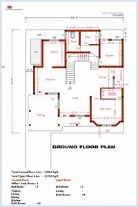 3 bedroom home plan and elevation house design plans for Three bedroom plan