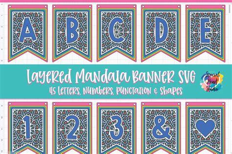 Love heart mandala free svg file downloads as a zip file inclu. Free Layered Mandala Banner SVG Cut File - SPECIAL HEART ...