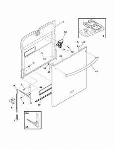 Door Diagram  U0026 Parts List For Model Fdb4315lfc2 Frigidaire