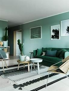 quelle couleur pour un salon 80 idees en photos With tapis de gym avec canape beige dehoussable