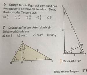 Sinus Cosinus Berechnen : trigonometrie seitenverh ltnis durch sin cos tan mathelounge ~ Themetempest.com Abrechnung