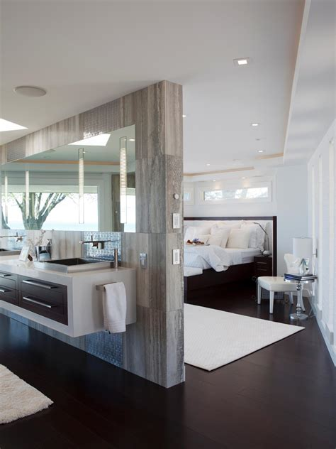 Modern Bathroom And Bedroom by Gray Master Bedrooms Ideas Hgtv