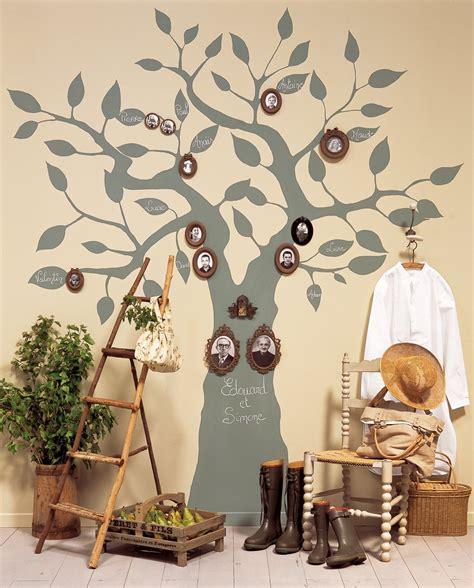 un arbre g 233 n 233 alogique peint sur un mur