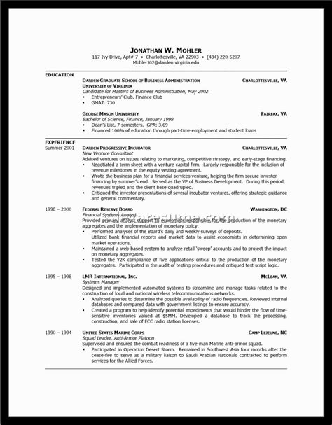 Exles Of Well Formatted Resumes resume format exles