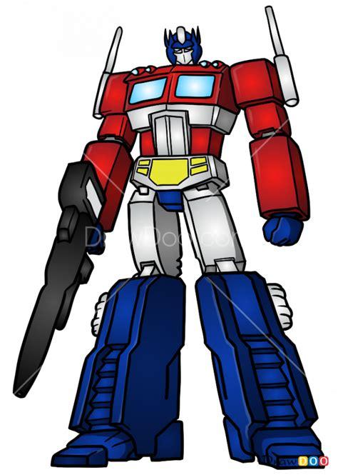 draw optimus prime robots