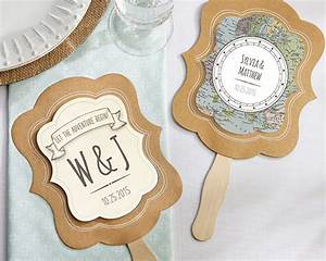 personalized travel and adventure fan favors set of 12 With travel themed wedding favors