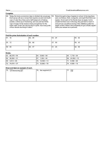 5th grade math review worksheets freeeducationalresources