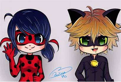 Chat Noir Ladybug Chibi Miraculous Animation Chibis