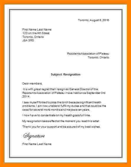 microsoft office templates resignation letter