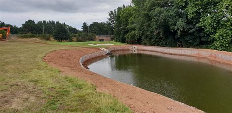 surface water attenuation pond at exeter golf country club twp ltd