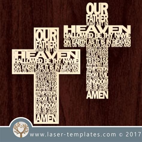 laser cut word cross template  vector pattern