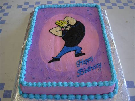 adorable johnny bravo themed cakes johnny bravo cake ideas
