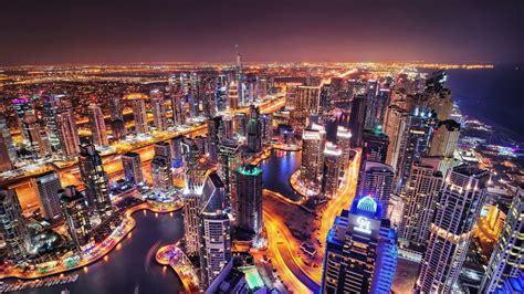 Dubai City Skyline Widescreen Hd Wallpaper Wallpaper