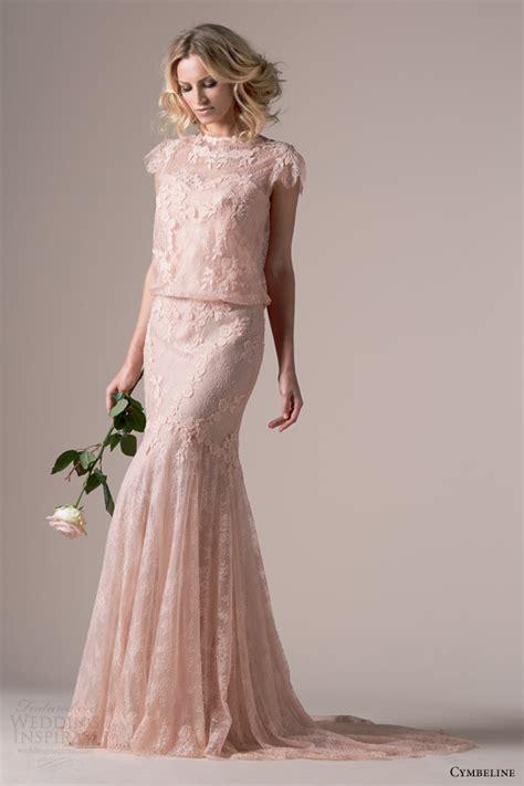 6585 pink lace wedding dress cymbeline bridal 2015 wedding dresses wedding inspirasi 6585