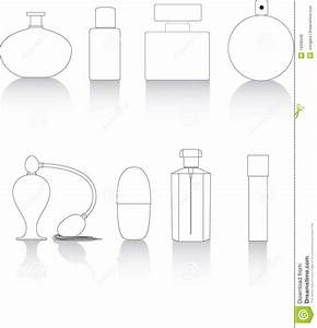 Key line perfume bottles stock vector. Image of collection ...