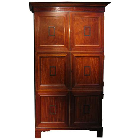 glass kitchen cabinet a pair of mahogany cabinets from the museum 1229