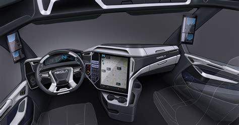 freightliner interior model nikola two electric semi truck interior the fast truck