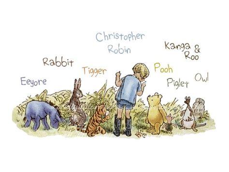 Classic Winnie El Pooh Imprimir Con Christopher Robin Tigger