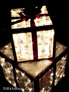 outdoor lighted christmas presents hometalk