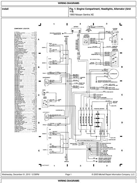 Wiring Diagram For 96 Nissan Xe by Sistema Electrico Nissan Sentra Xe B13 93