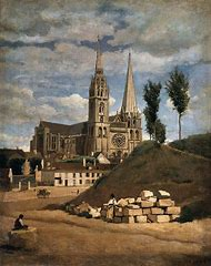 Camille Corot Chartres Cathedral