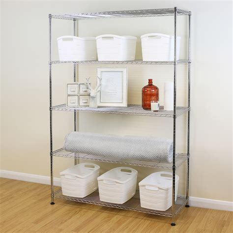 tier chrome metal storage rackshelving wire shelf