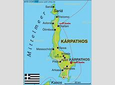 Karte von Karpathos Griechenland Karte auf WeltAtlas