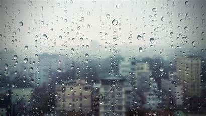Rain Window Glass Drops Buildings Wallpapertag