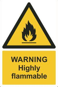 Warning Highly Flammable Sign, Order Direct Online   CSS Signs